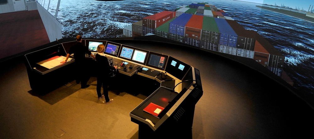 KSIM bridge simulator with navigators